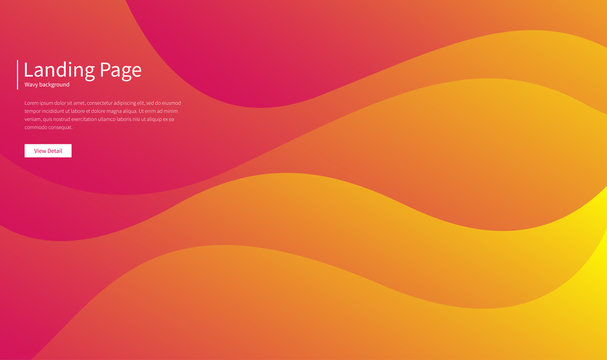 Wavy geometric background. Fluid gradient shapes composition. Futuristic design posters. Abstract banner with waves. Landing page concept. Trendy vector.