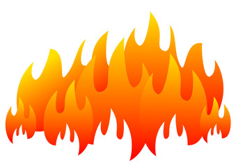 burning fire flame banner horizontal for web design vector eps 10