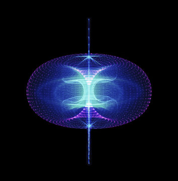 Sustainable high particle energy flow through a torus. Magnetic field, singularity, gravitational waves and spacetime concept
