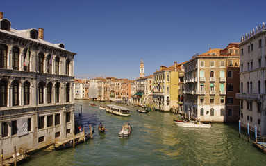 Garden Poster Napels Grand Canal in Venice city, Italy