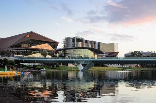 Adelaide, Australia - Riverbank at Sunset