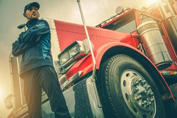 American Trucker Job Wall mural