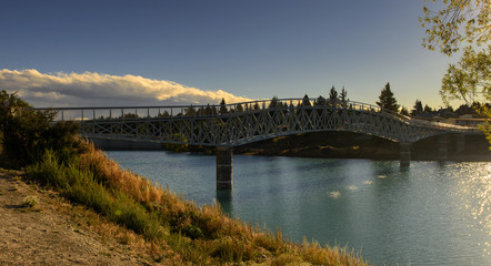 Walking Bridge to the Church of the Good Shepherd at Lake Tekapo, New Zealand