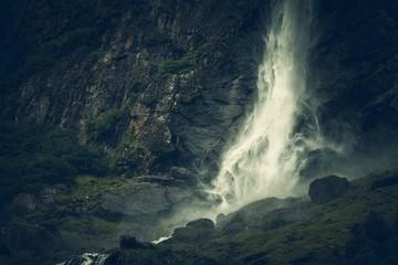 Wall Mural - Scenic Norwegian Waterfall