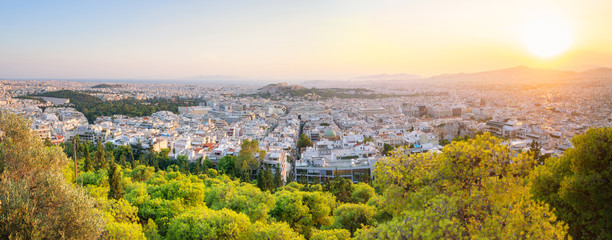 Printed roller blinds Athens Cityscape of beautiful Athens - Greece