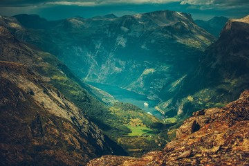 Fotomurales - Village of Geiranger Norway