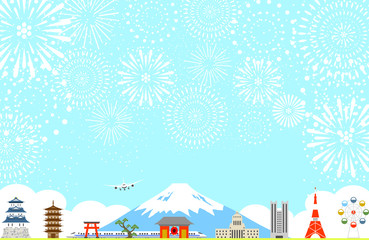日本の風景 花火