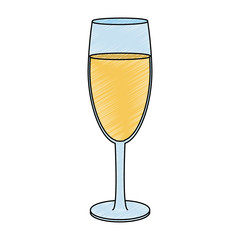 Champagne glass cup vector illustration graphic design