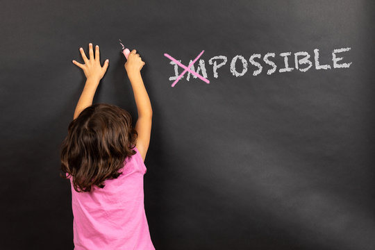 blackboard impossible young girl