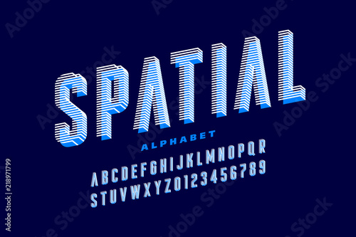 Stylised 3d Font Alphabet Letters And Numbers Stock Image And