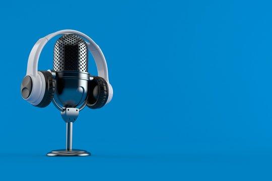 Radio microphone with headphones