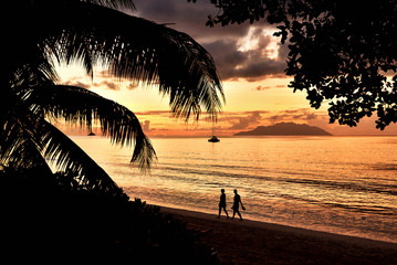 Romantic Beach at Beau Vallon