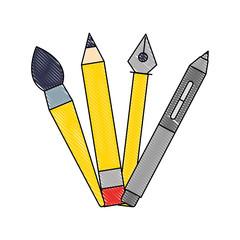 creativity pencil pen brush artistic tools