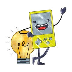 kawaii video game console and bulb idea