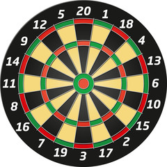 Vector Graphic Dartboard