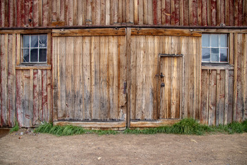 A Barn Door in the Ghost Town of Bodie Located in California's Eastern Sierra Mountains