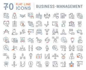 Set Vector Line Icons of Business-Management.