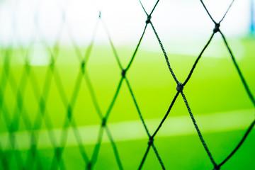sport training net blur on sport training ground