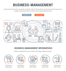 Linear Banner of Business-Management.