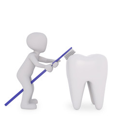 the dentist explains how to clean the teeth in the right way