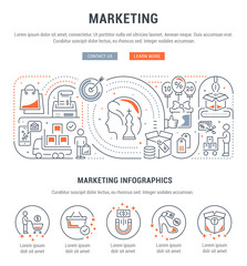 Linear Banner of Marketing.