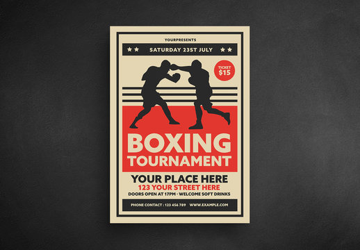 Boxing Tournament Event Flyer Layout