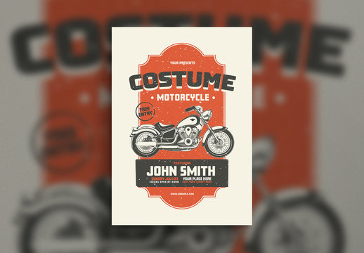 Motorcycle Event Flyer Layout