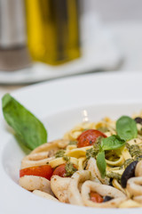 Delicious Italian pasta with sea products