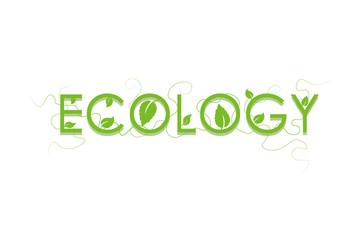 Ecology sign vector logo. Green Leaf Icon Illustration. Eco concept design.