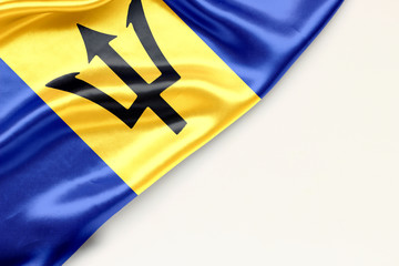 Flag of Barbados with place for text