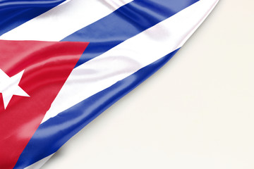 Flag Cuba with place for text