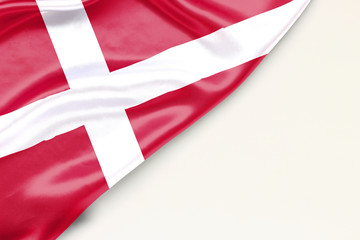 Flag of Denmark with place for text