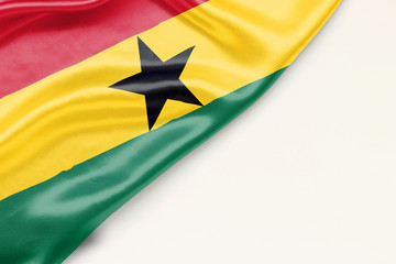 Flag of Ghana with a place for text