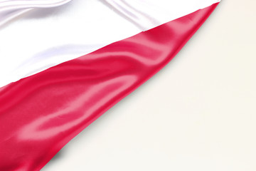 Flag of Poland with a place for text