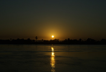 Sunset in Nile River, Egypt