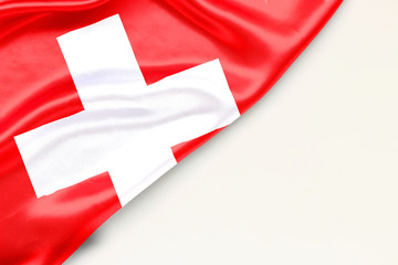 Flag of Switzerland with place for text