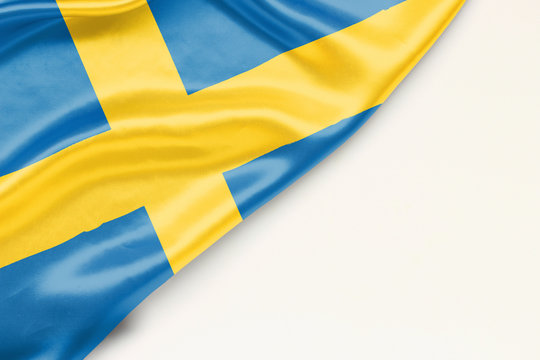 Flag of Sweden with place for text