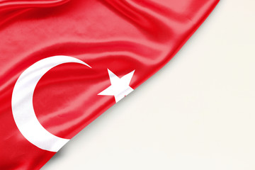 Flag of Turkey with place for text