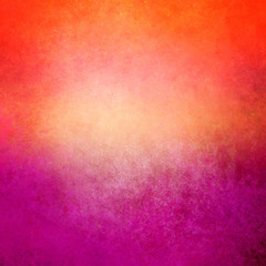 colorful orange purple and pink background with grunge texture, old distressed paint and warm vibrant colors