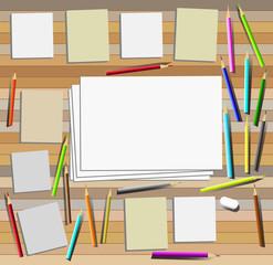 Art work desk top view