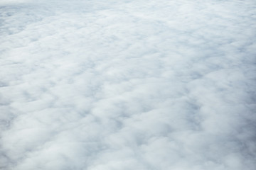 high sky above the clouds background