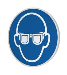 Gebotszeichen ASR A1.3: Augenschutz benutzen