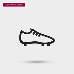 Soccer shoe icon. Simple football element illustration. Boot symbol design from sport collection. Can be used in web and mobile.