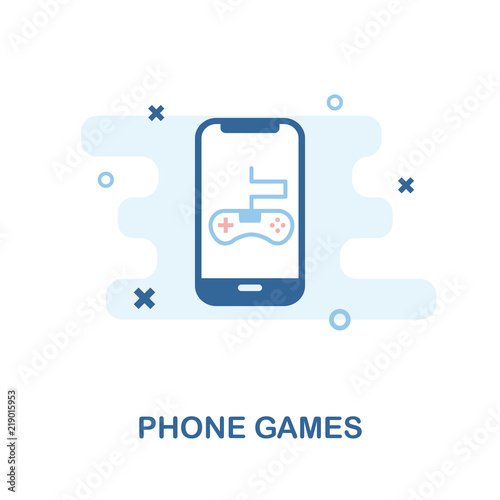Phone Games icon  Simple element illustration  Phone Games