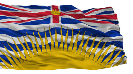 British Columbia City Flag, Country Canada, Isolated On White Background