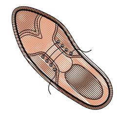elegant masculine single shoe vector illustration design