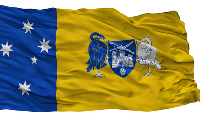 Australian Capital Territory City Flag, Country Australia, Isolated On White Background