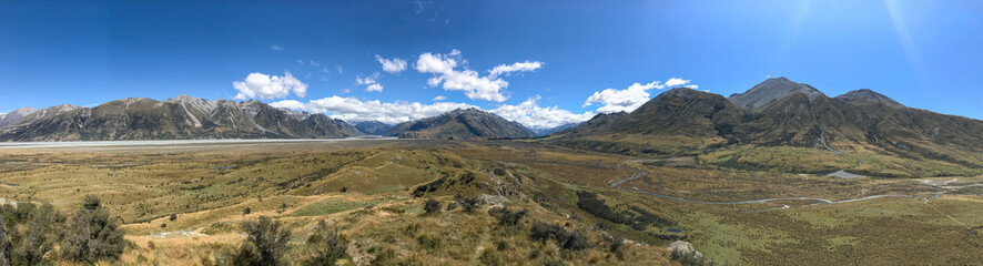 Panorama Mout Sunday; Herr der Ringe Location; Neuseeland