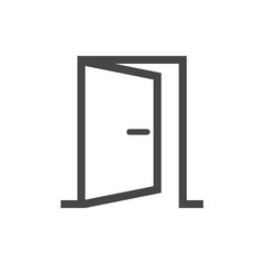 Open door simple vector icon