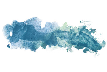 band, multilayered blue aquamarine watercolor